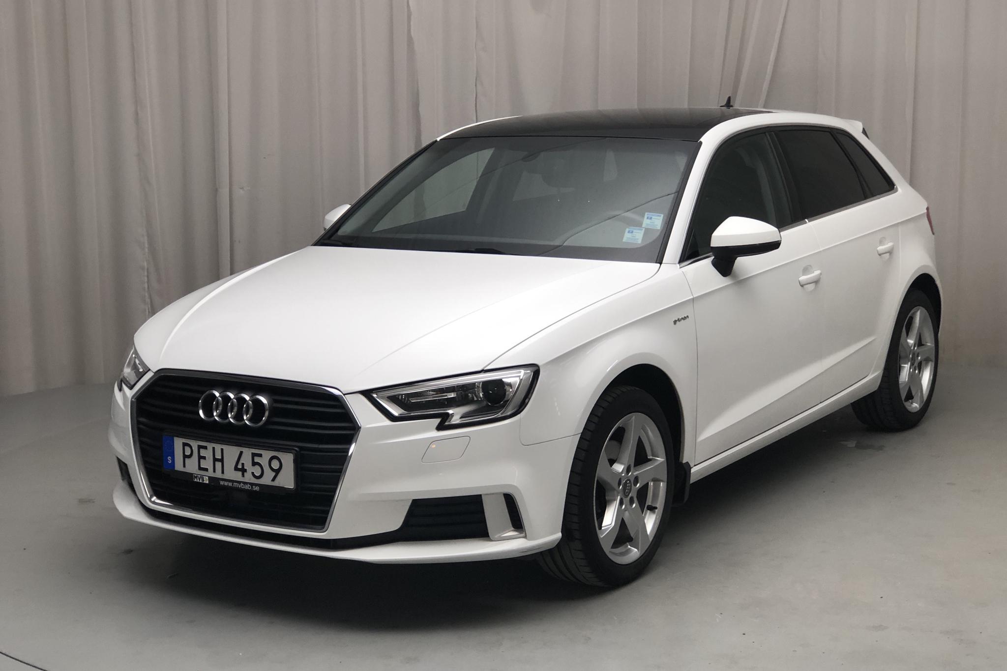 Audi A3 1.4 TFSI g-tron Sportback (110hk) - 3 423 mil - Manuell - vit - 2018