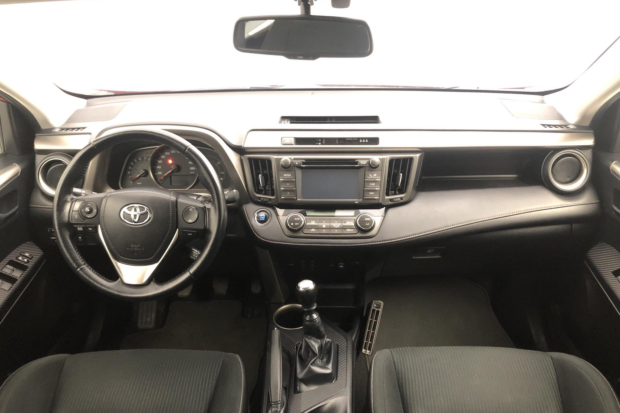 Toyota RAV4 2.0 VVT-i (151hk) - 174 070 km - Manual - Dark Red - 2014