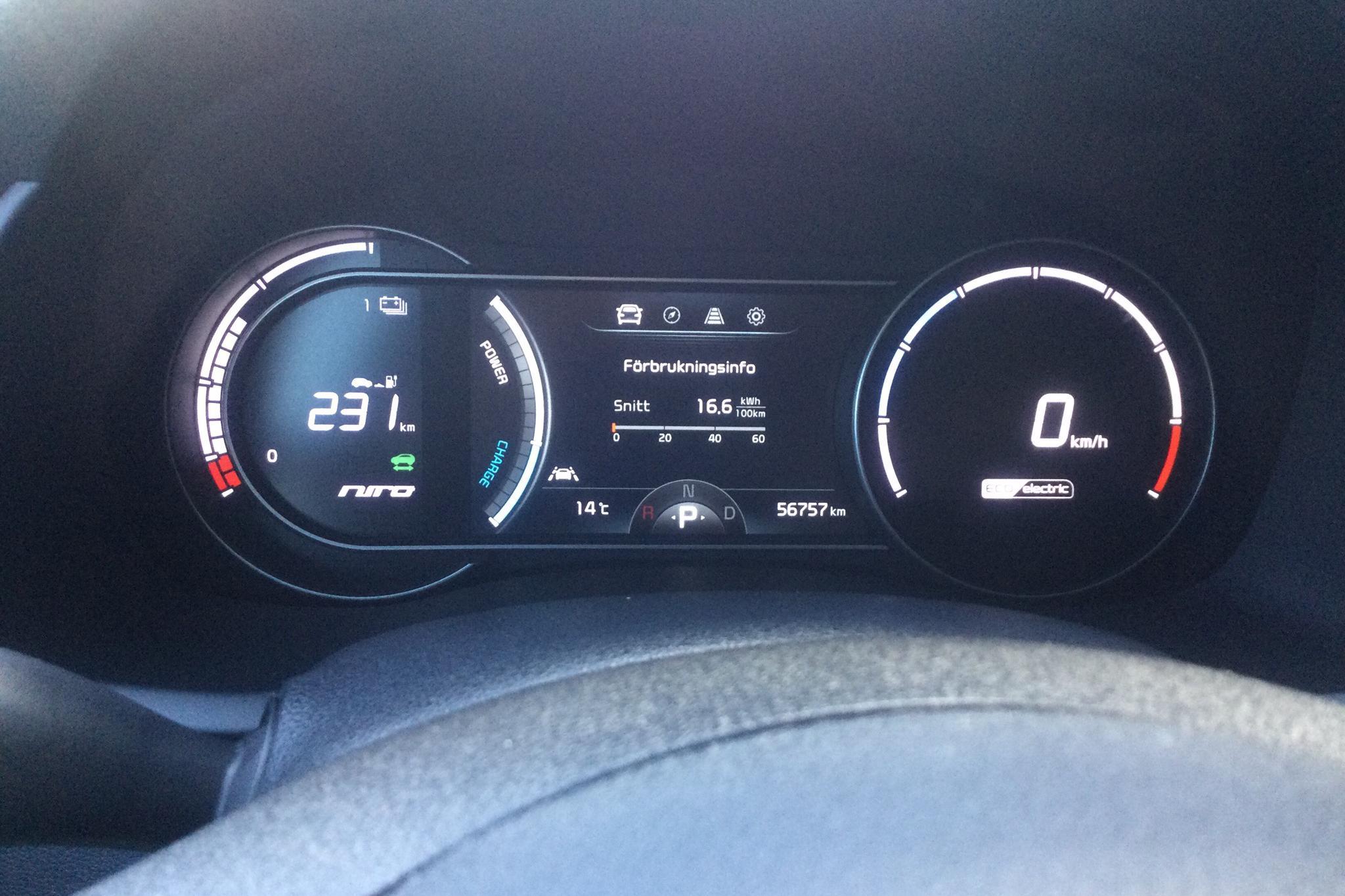 KIA Niro EV 64 kWh (204hk) - 56 750 km - Automatic - white - 2019