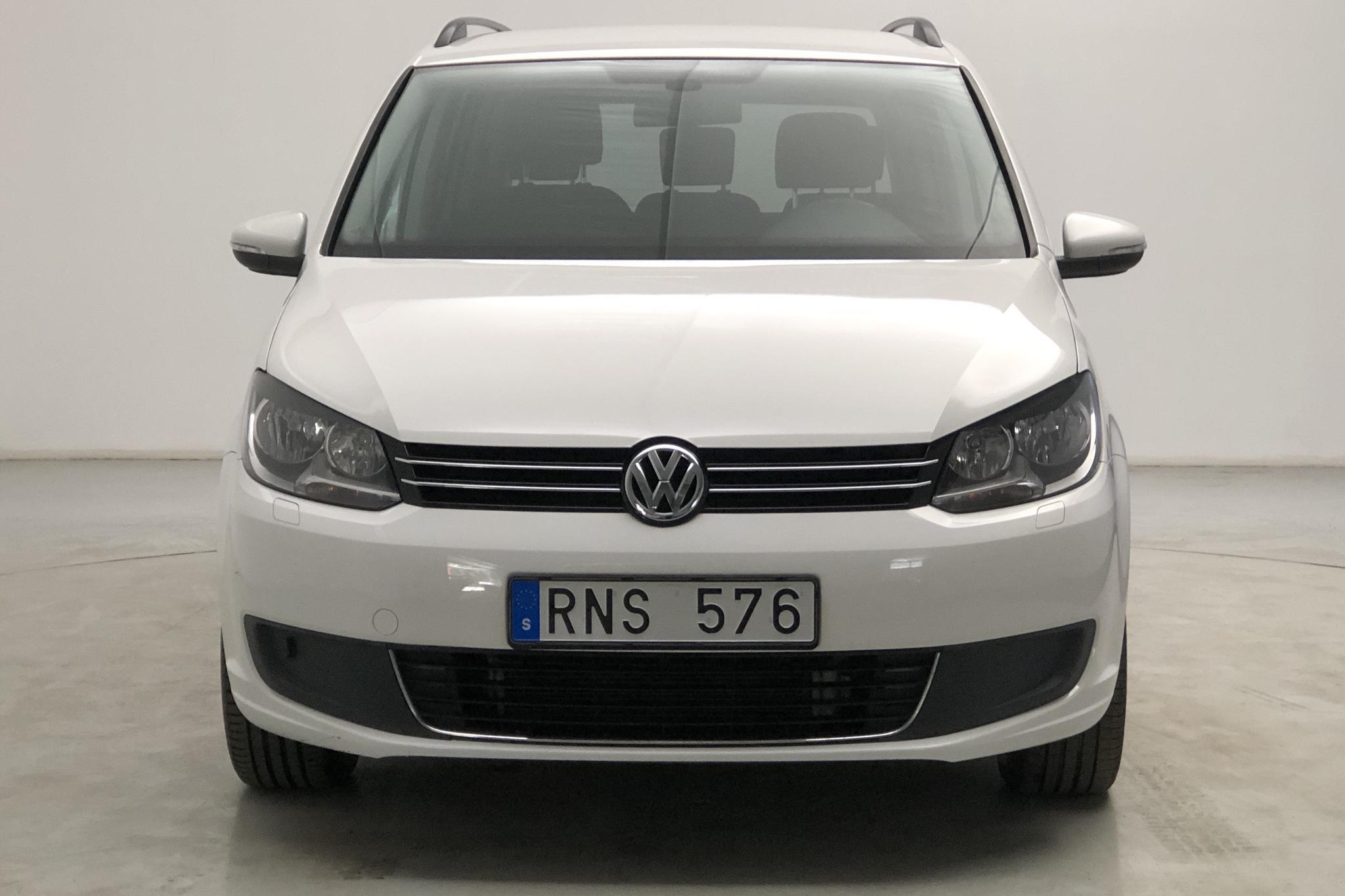 VW Touran 1.4 TGI EcoFuel (150hk) - 56 180 km - Automatic - white - 2014