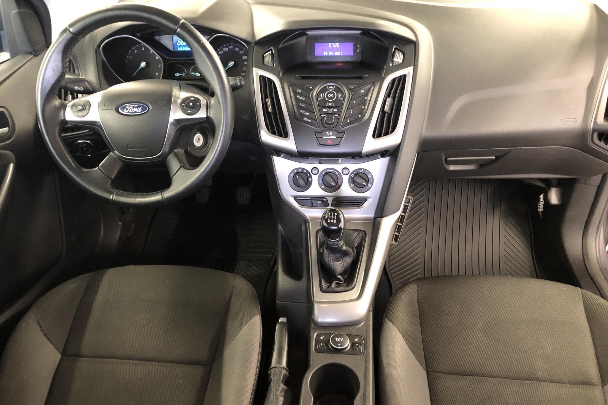 Ford Focus 1.6 Ti-VCT Flexifuel Kombi (120hk) - 14 635 mil - Manuell - brun - 2012