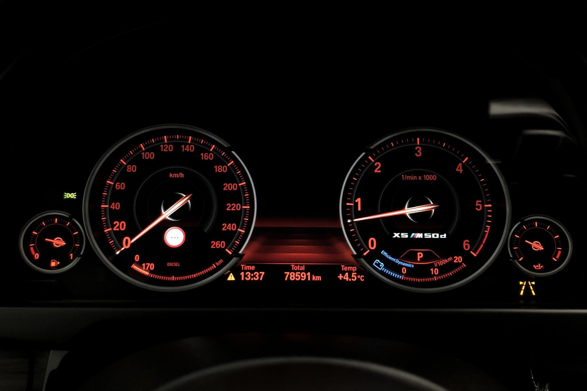 BMW X5 M50d, F15 (381hk) - 78 580 km - Automatic - gray - 2016