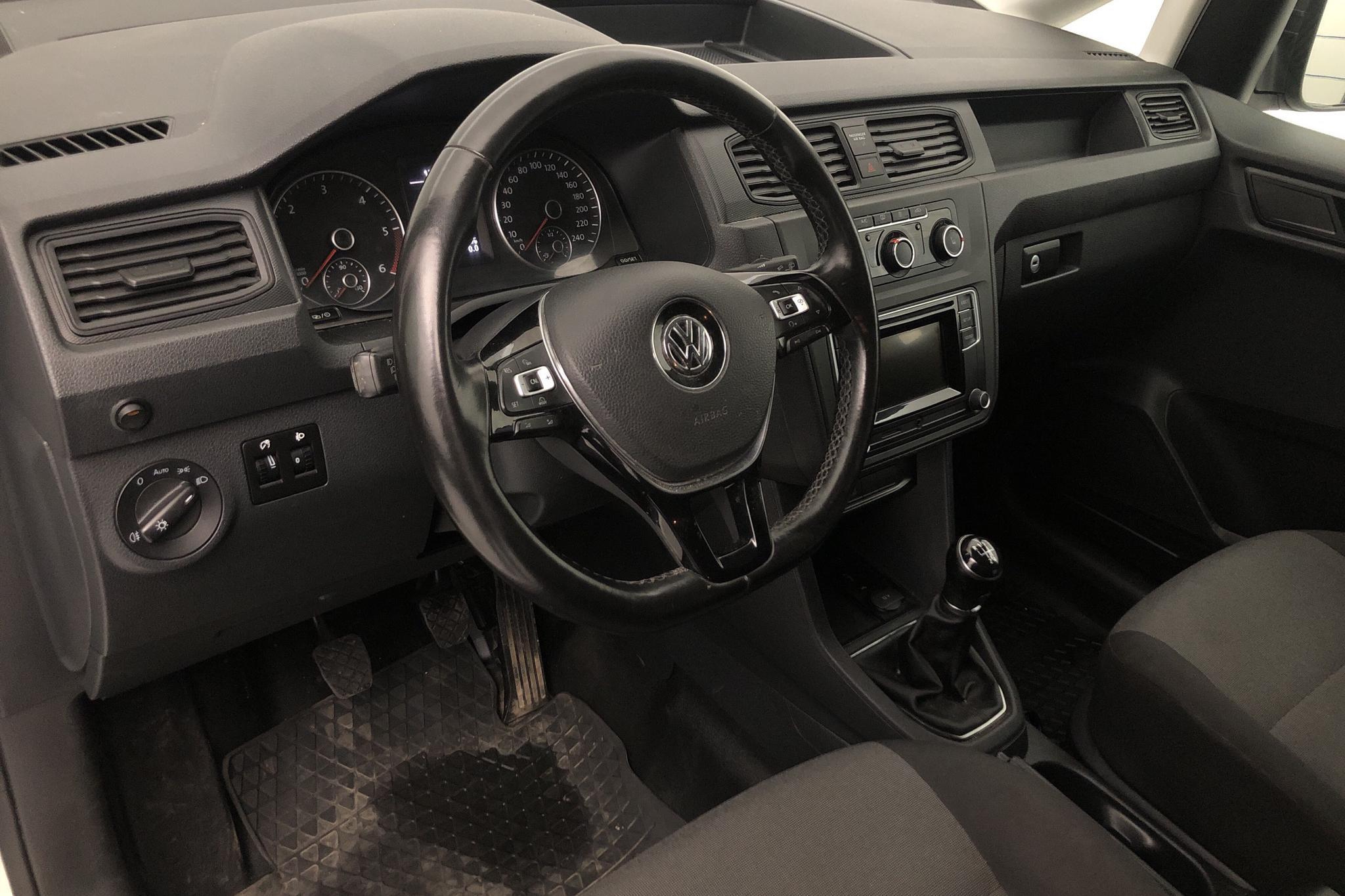 VW Caddy 2.0 TDI Skåp (75hk) - 7 728 mil - Manuell - vit - 2018
