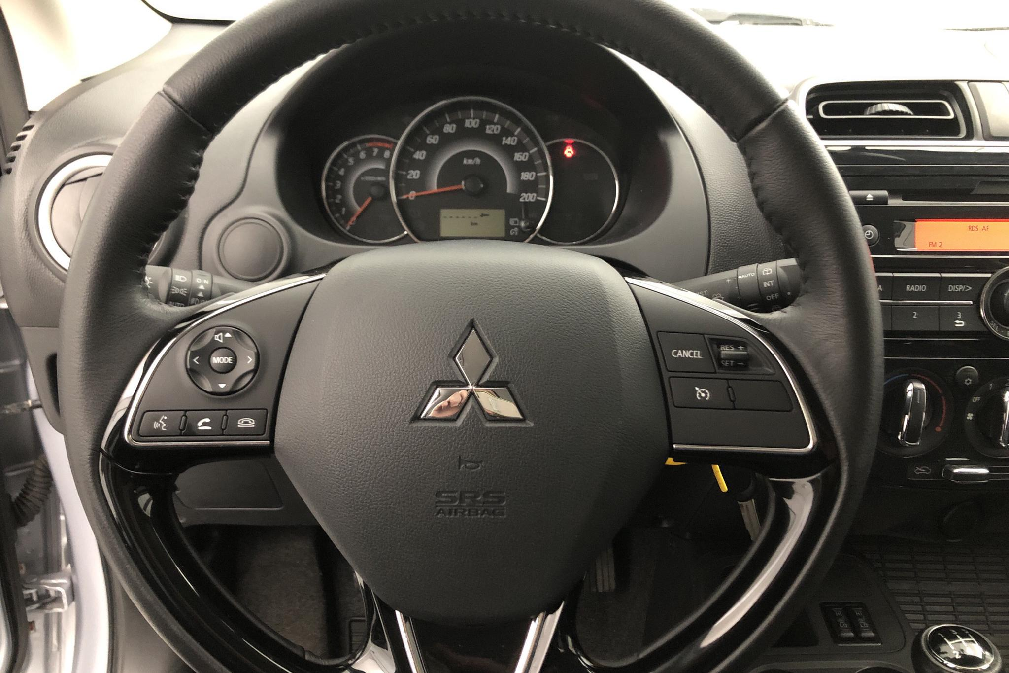 Mitsubishi Space Star 1.2 5dr (80hk) - 472 mil - Manuell - silver - 2016