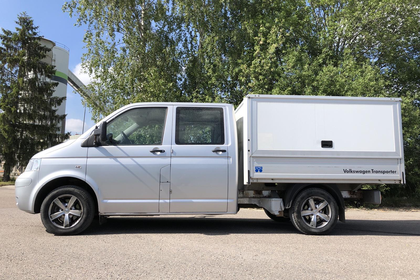 VW Transporter T5 2.5 TDI Pickup (130hk) - 258 660 km - Manual - silver - 2008