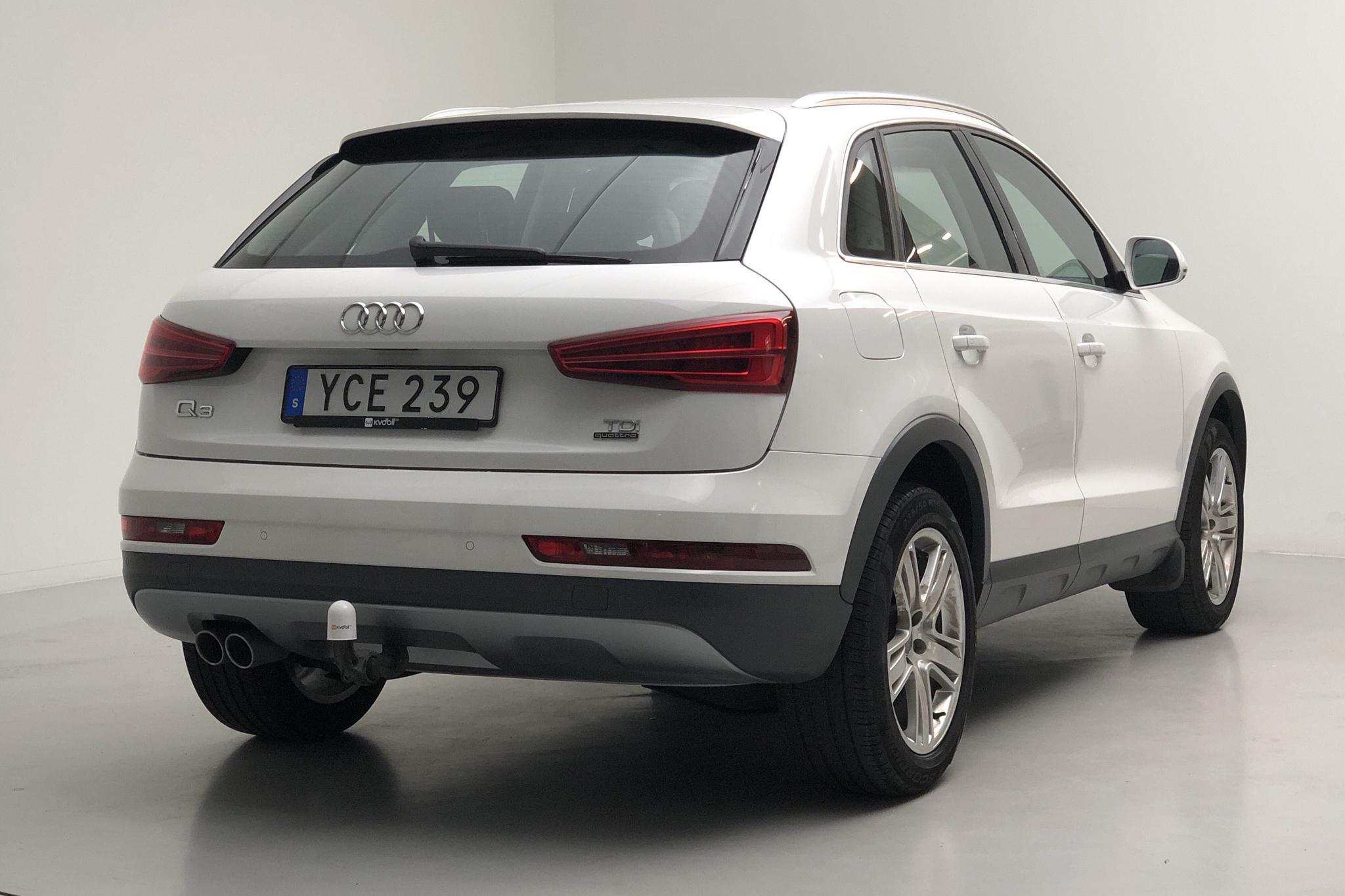 Audi Q3 2.0 TDI quattro (150hk) - 59 130 km - Automatic - white - 2016