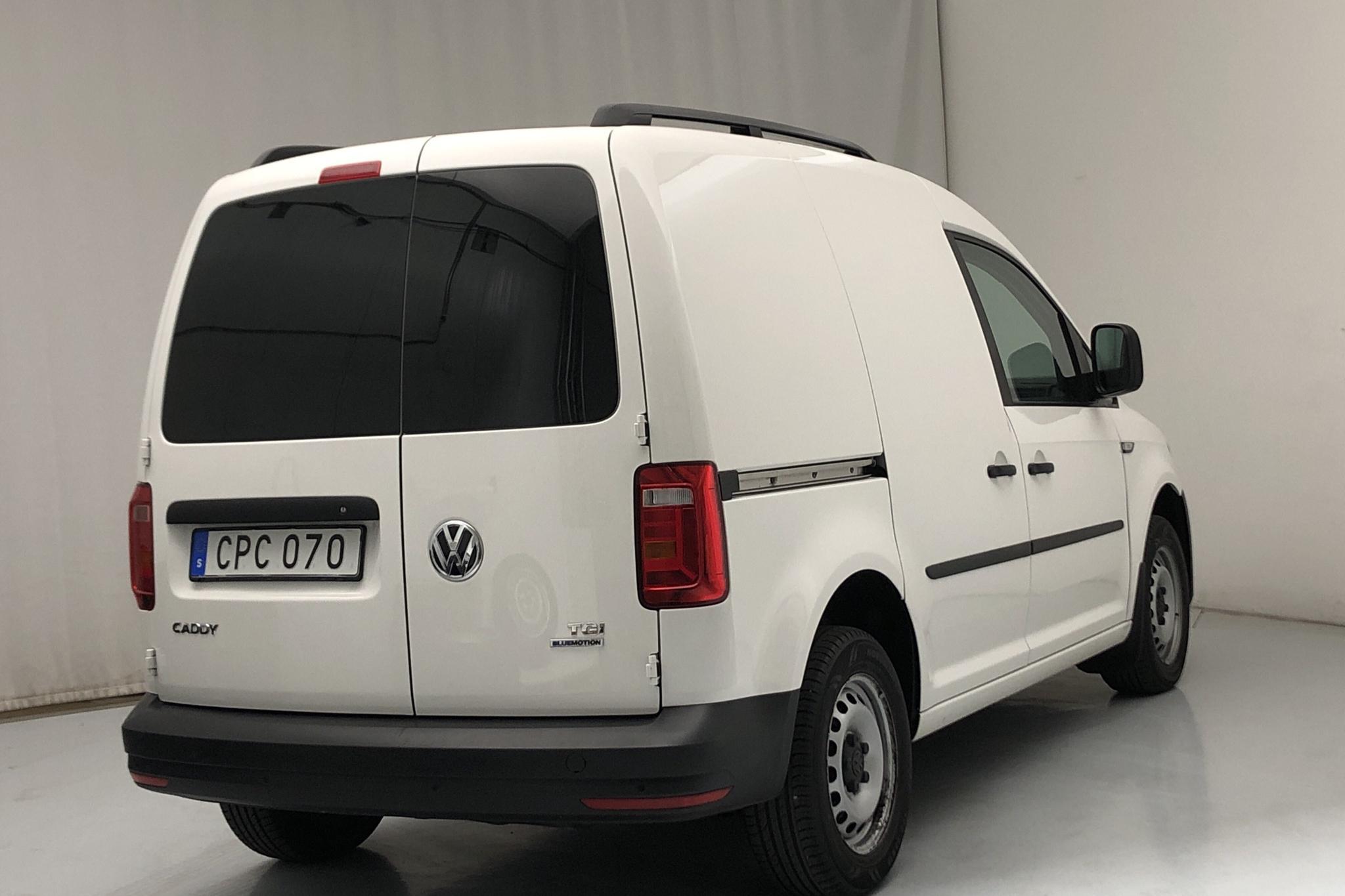 VW Caddy 1.4 TGI Skåp (110hk) - 14 436 mil - Automat - vit - 2018