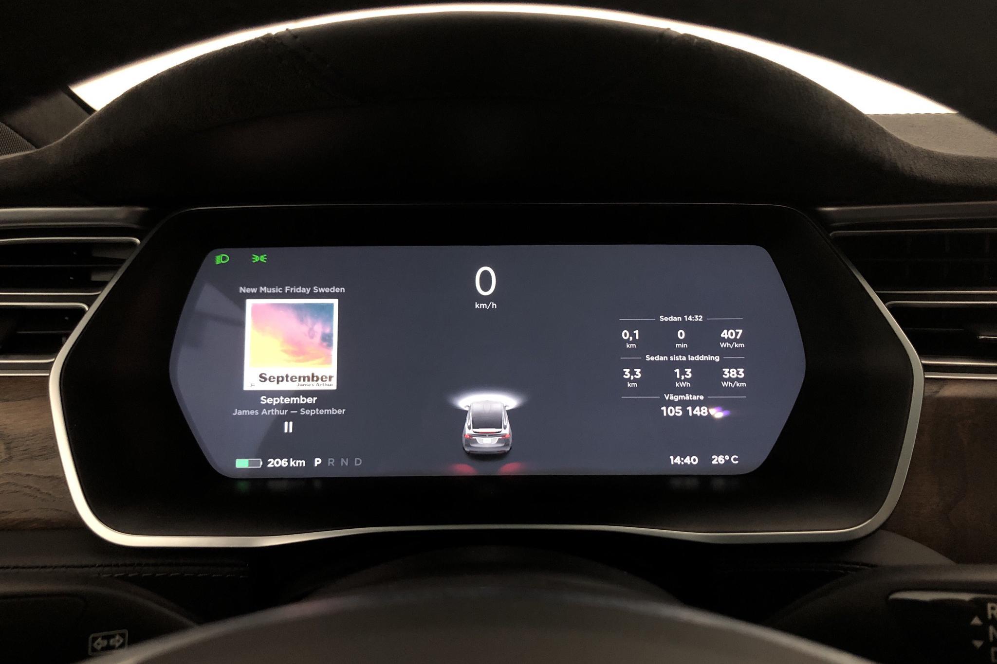 Tesla Model X 100D - 10 514 mil - Automat - grå - 2017