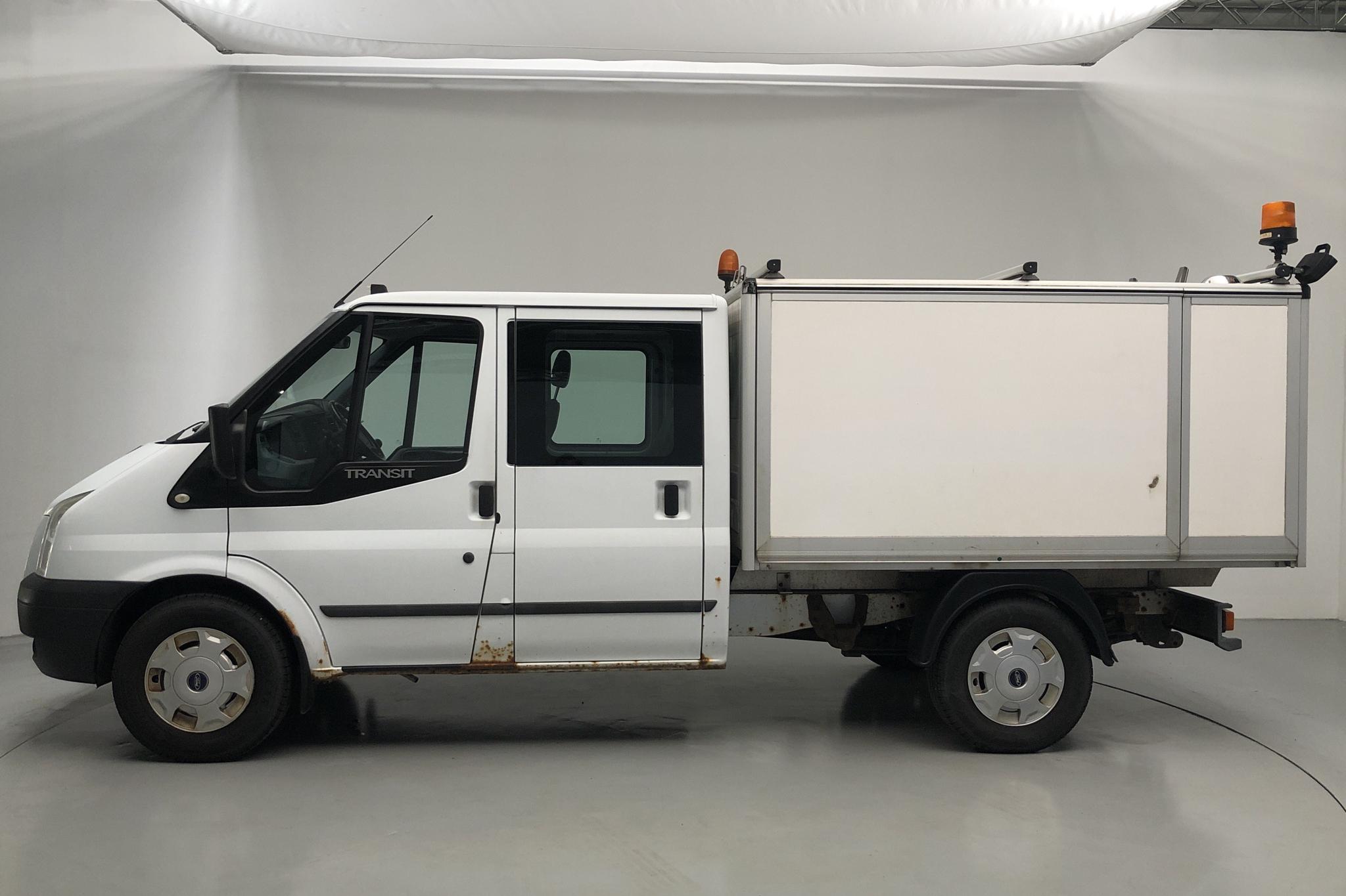 Ford Transit 350 2.2 TDCi Pickup (125hk) - 19 493 mil - Manuell - vit - 2012