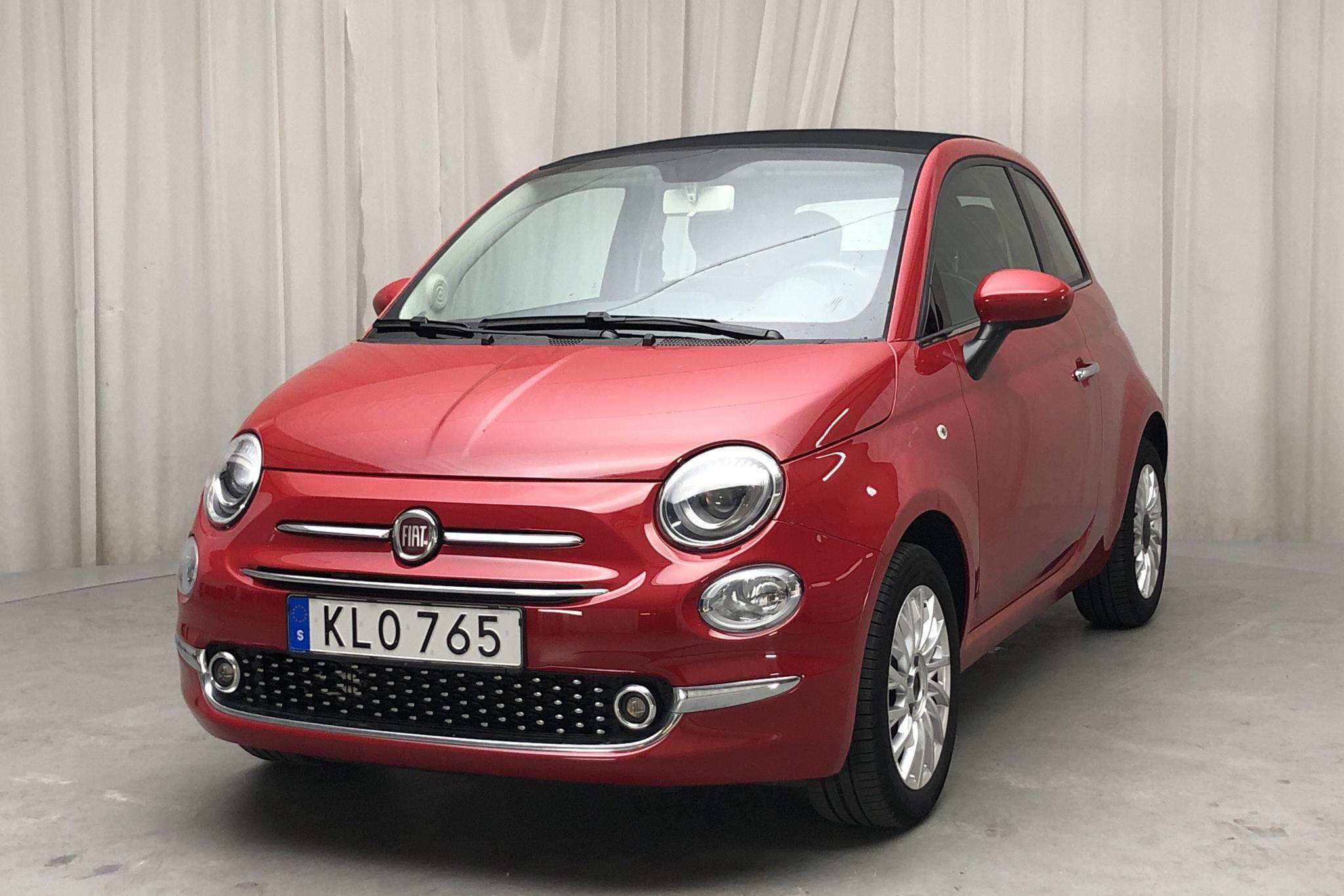Fiat 500C 1.2 (69hk) - 5 884 mil - Manuell - röd - 2018