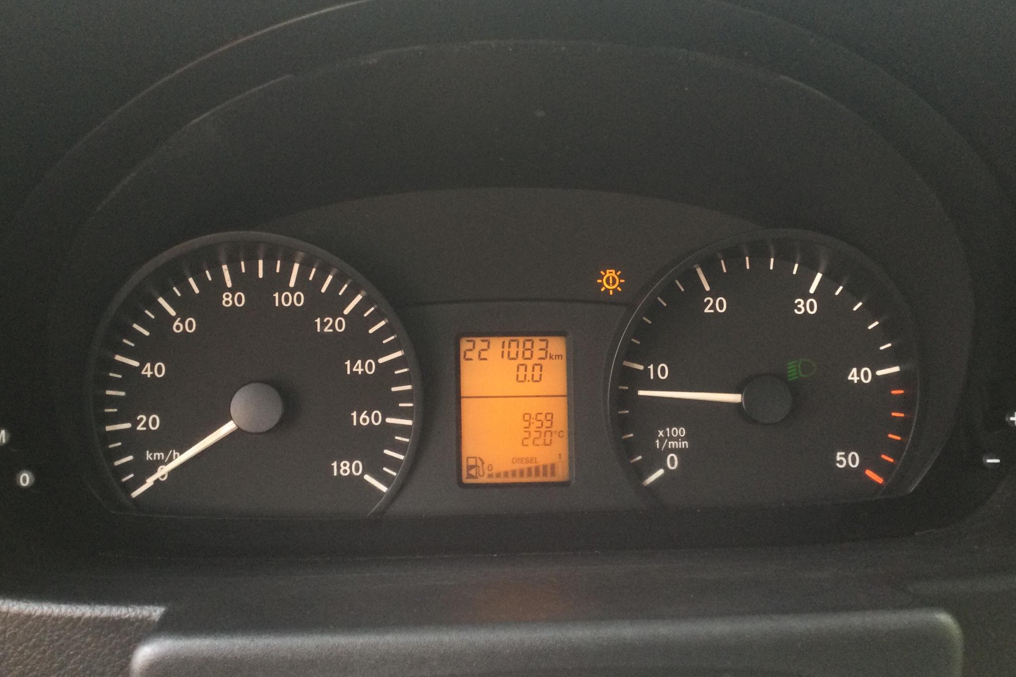 Mercedes Sprinter 316 CDI Pickup/Chassi(163hk) - 22 108 mil - Manuell - vit - 2013