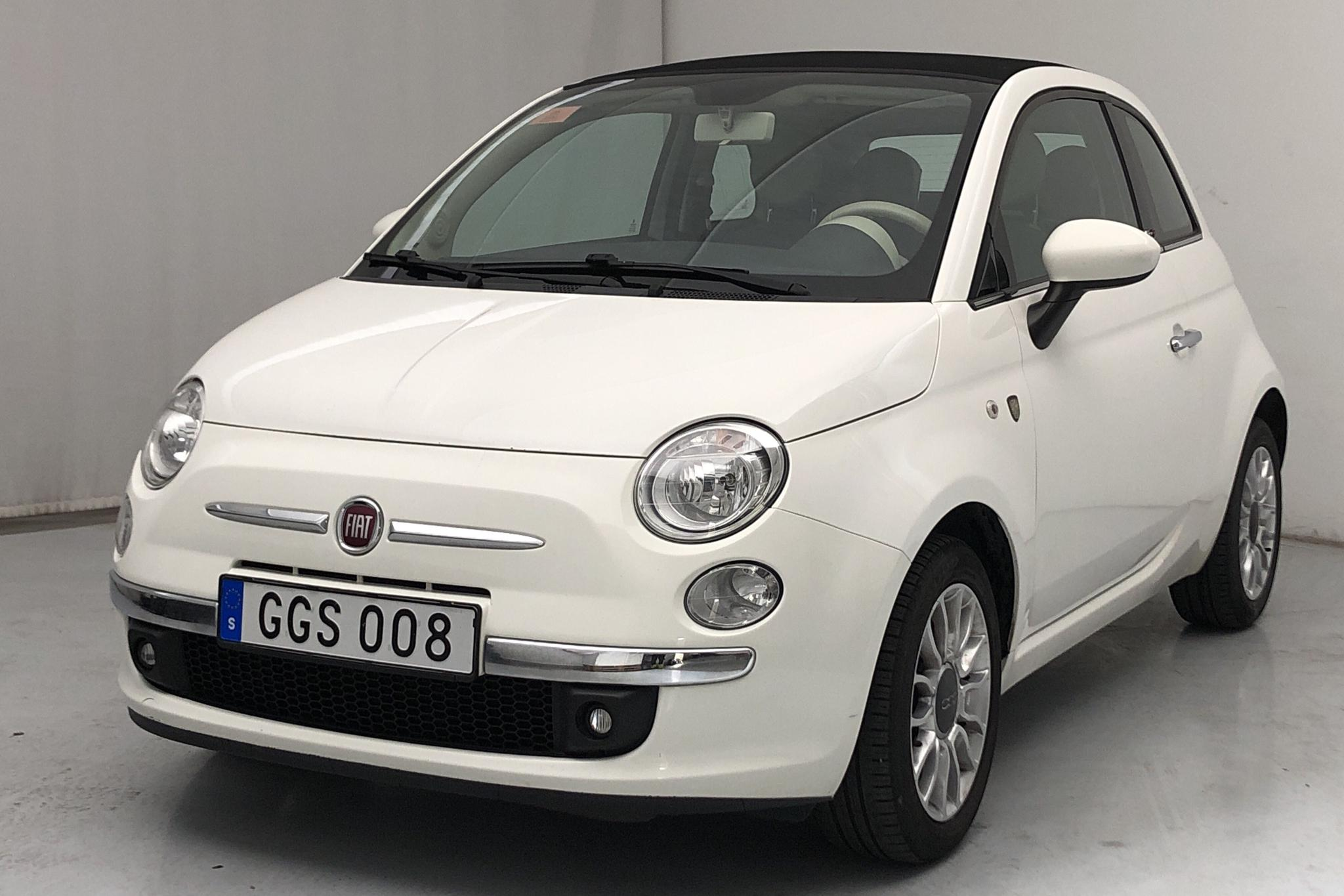 Fiat 500C 1.2 (69hk) - 95 430 km - Manual - white - 2014