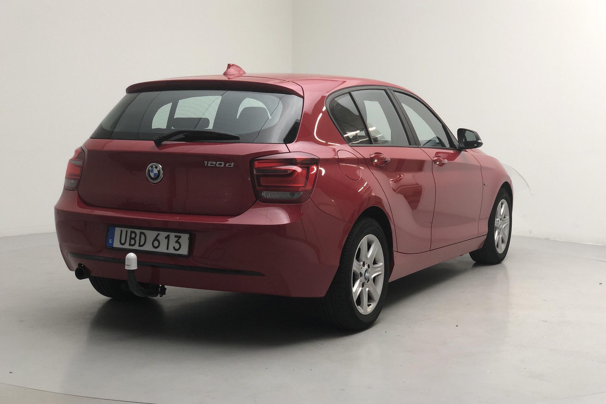 BMW 120d 5dr, F20 (184hk) - 166 000 km - Manual - red - 2013