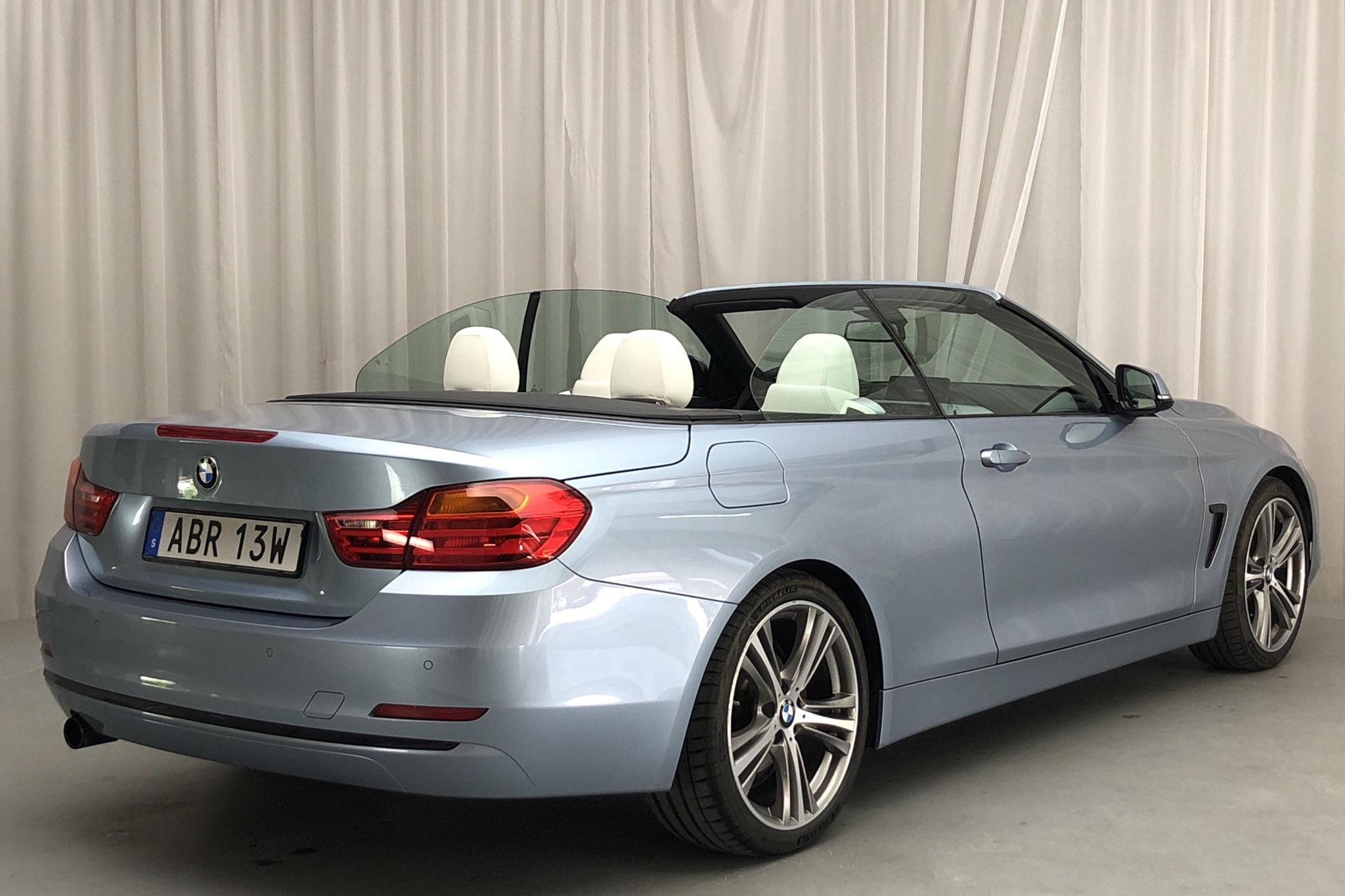 BMW 420i Cabriolet, F33 (184hk) - 29 980 km - Manual - Light Blue - 2015