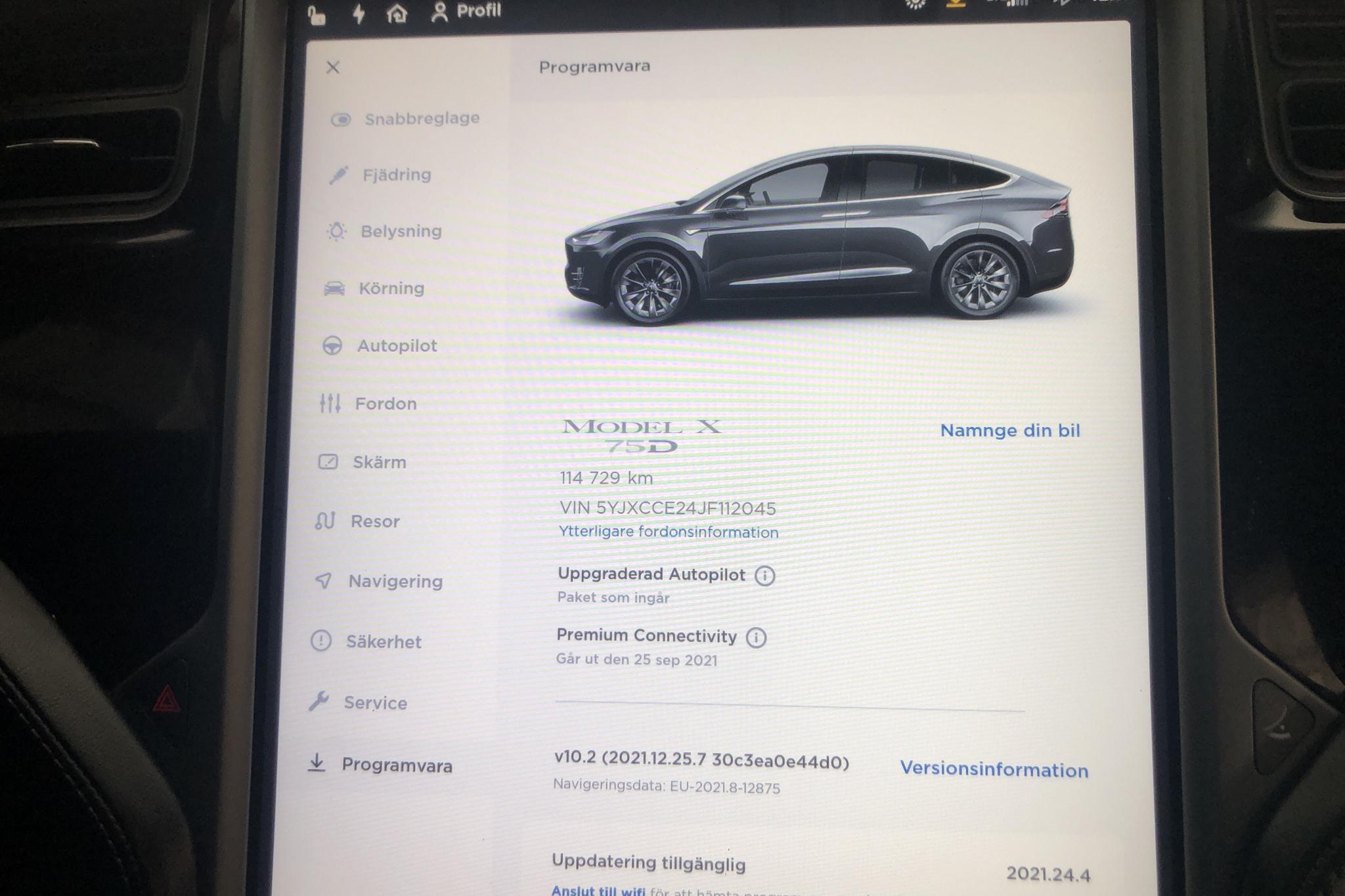 Tesla Model X 75D - 11 472 mil - Automat - grå - 2018