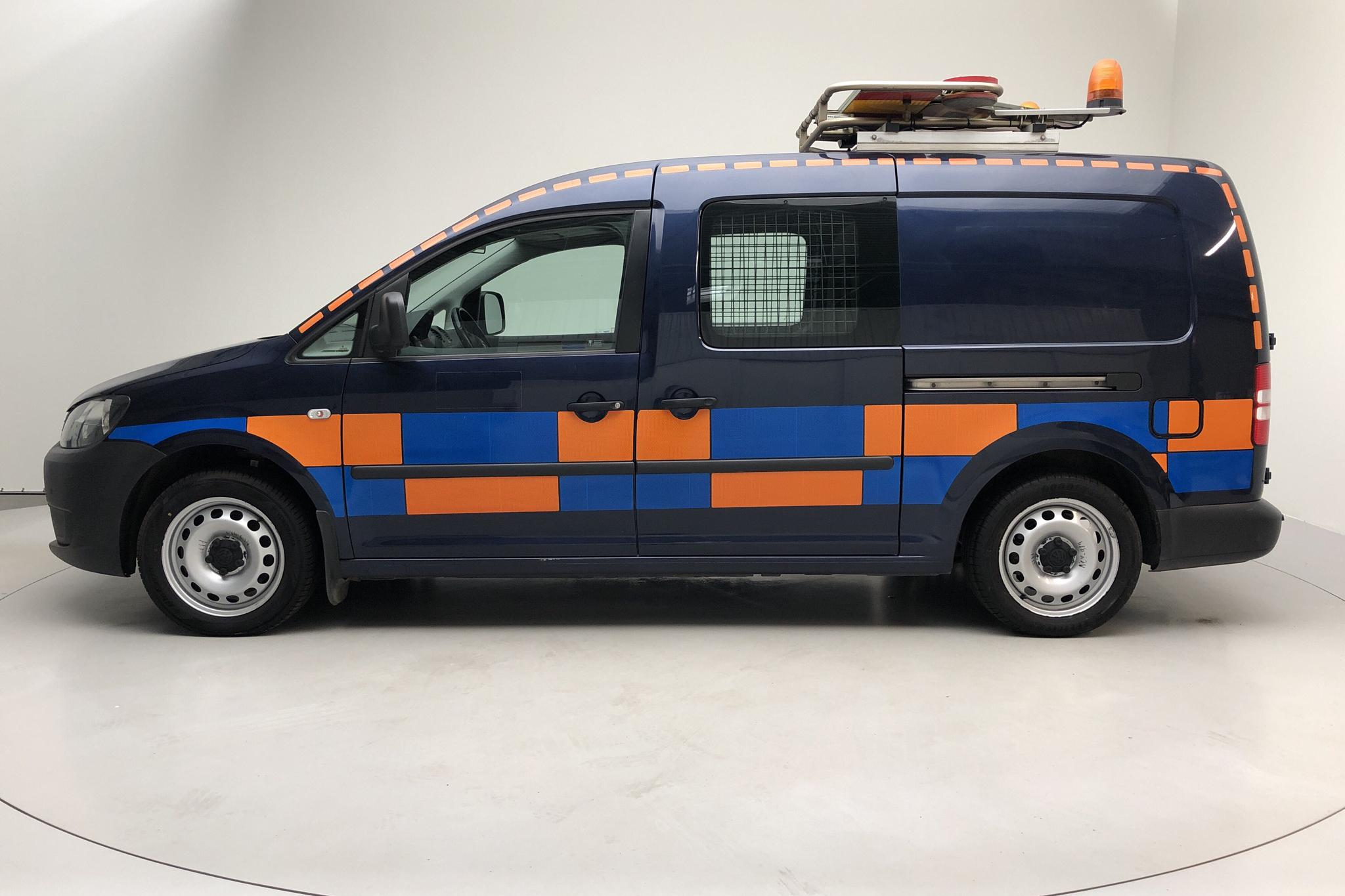 VW Caddy 2.0 TDI Maxi Skåp (140hk) - 77 690 km - Automatic - Dark Blue - 2013