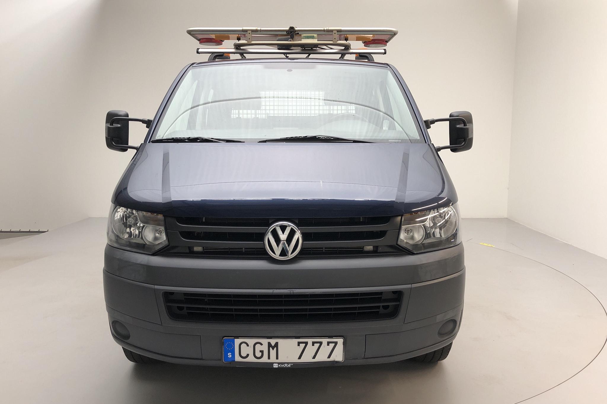 VW Transporter T5 2.0 TDI Pickup (140hk) - 7 098 mil - Automat - Dark Blue - 2013