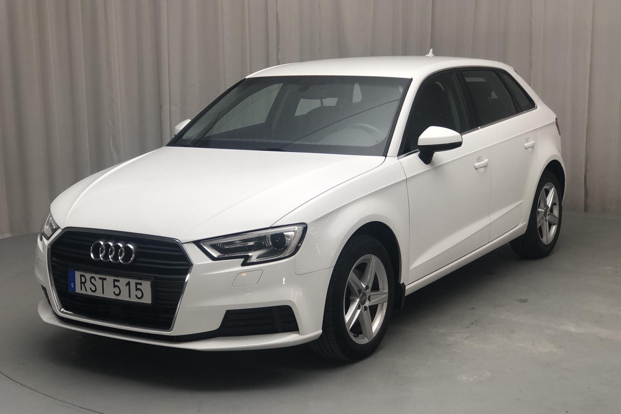 Audi A3 1.5 TFSI Sportback (150hk) - 76 970 km - Manual - white - 2018