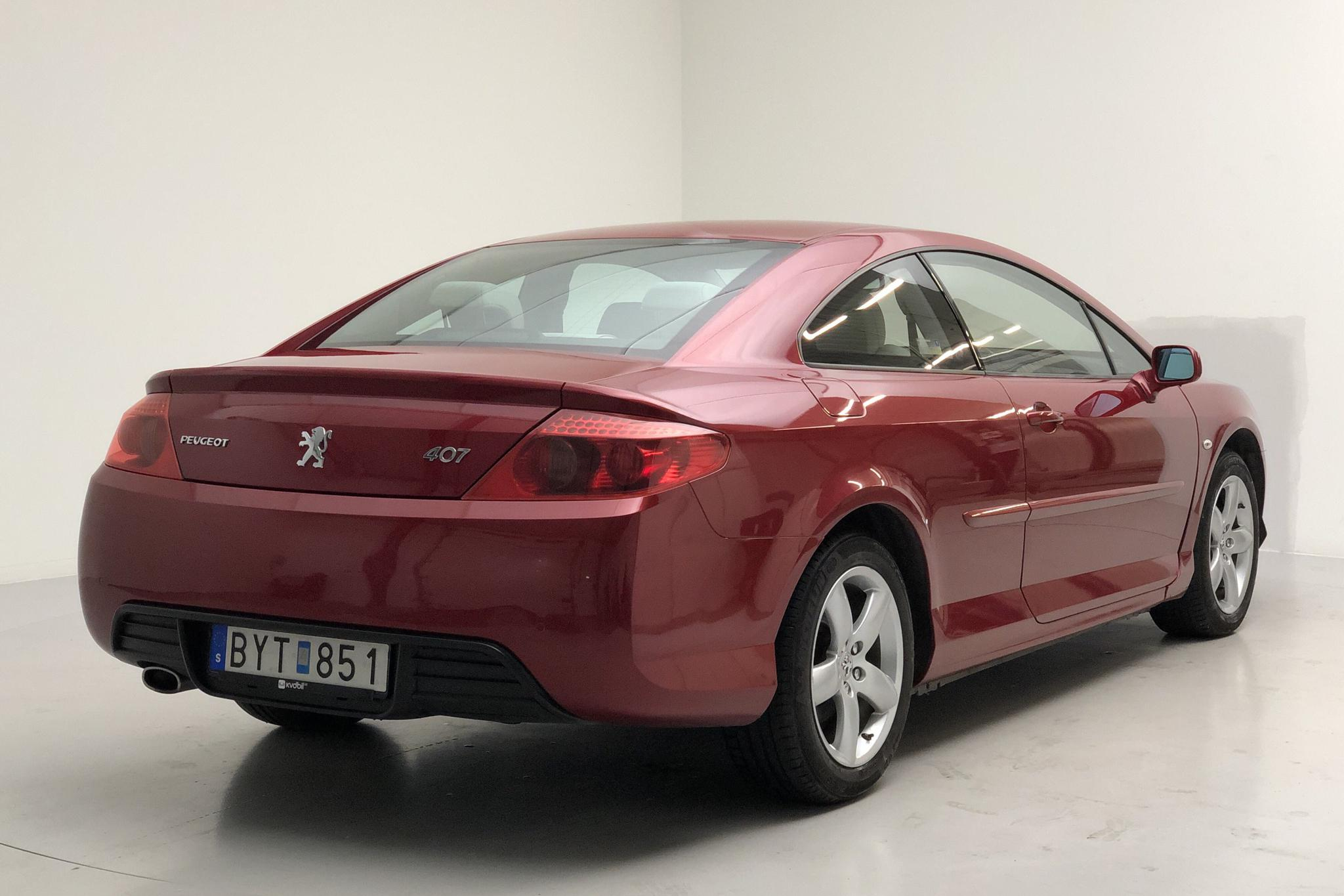 Peugeot 407 2.2 Coupé (163hk) - 6 925 mil - Manuell - Dark Red - 2006