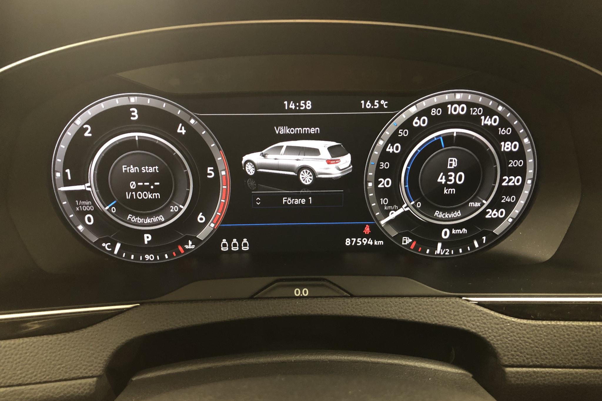 VW Passat Alltrack 2.0 TDI Sportscombi 4MOTION (190hk) - 87 590 km - Automatic - Dark Grey - 2018