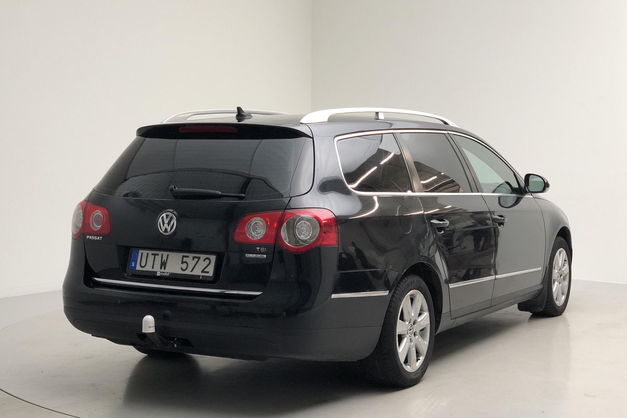 VW Passat 1.4 TSI EcoFuel Variant (150hk) - 201 670 km - Automatic - black - 2010
