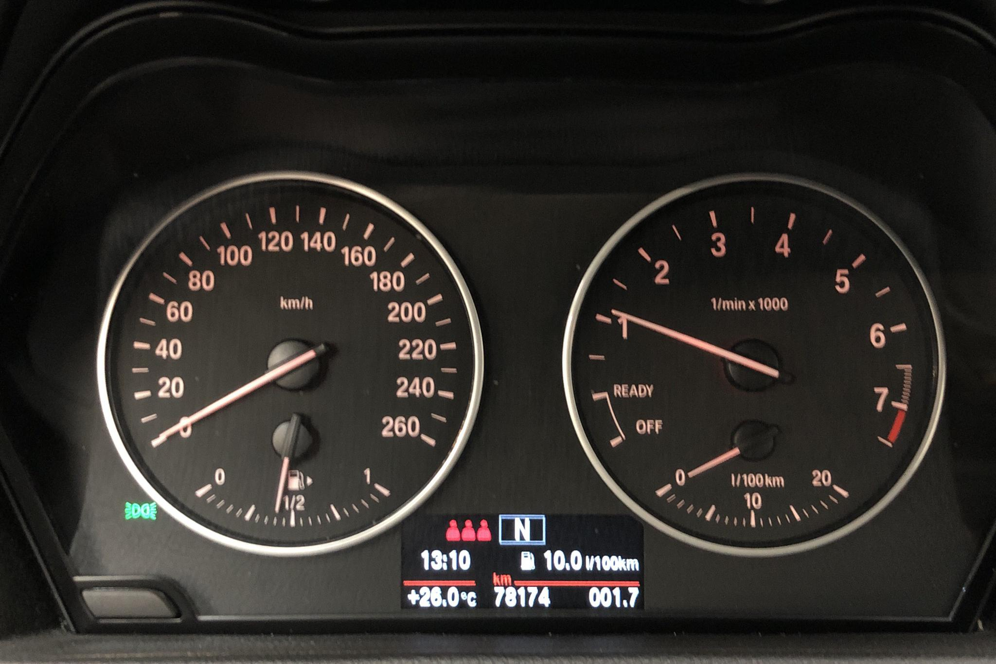 BMW 218i Active Tourer, F45 (136hk) - 7 818 mil - Manuell - svart - 2016