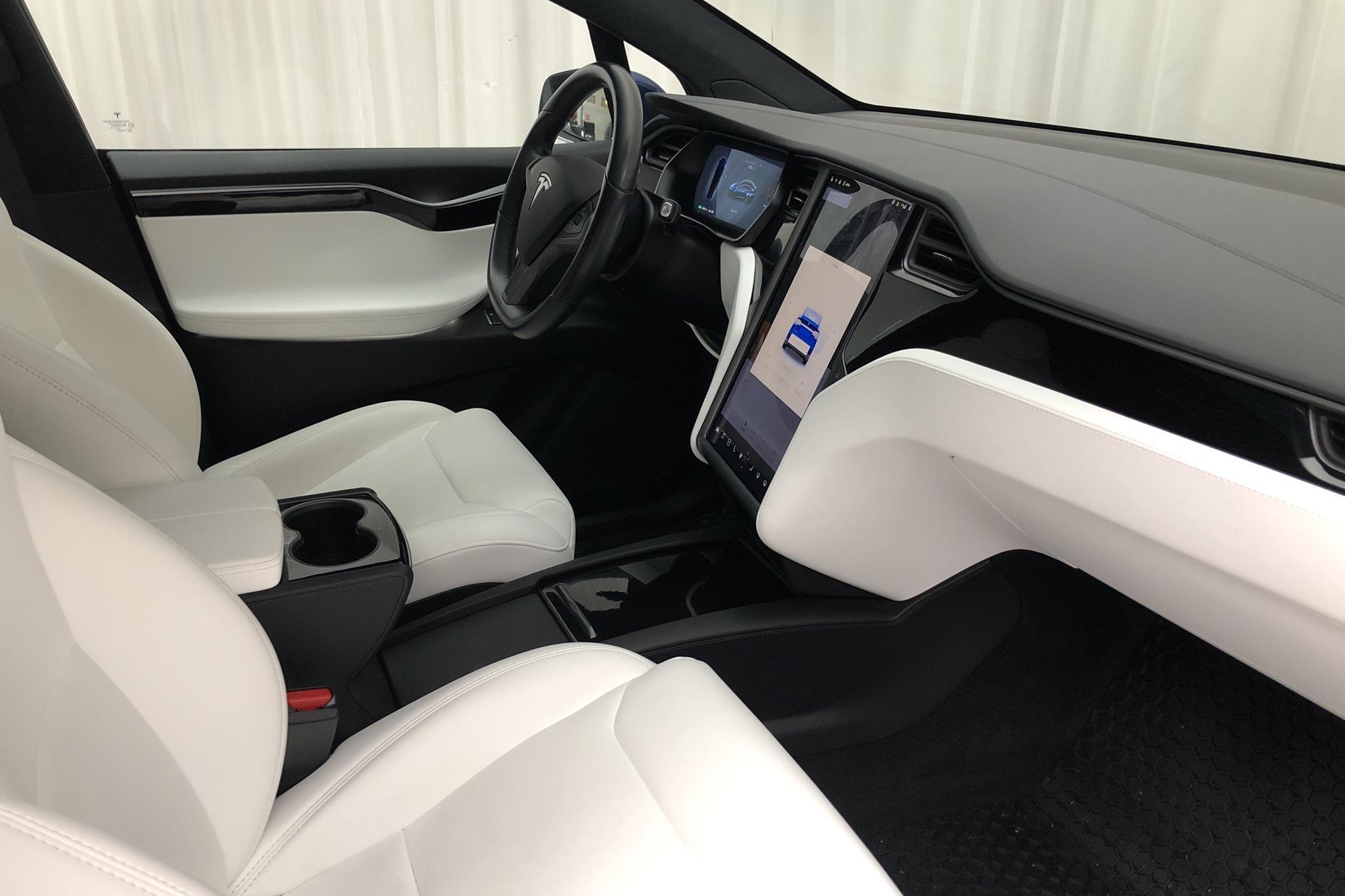 Tesla Model X 75D - 6 380 mil - Automat - blå - 2018