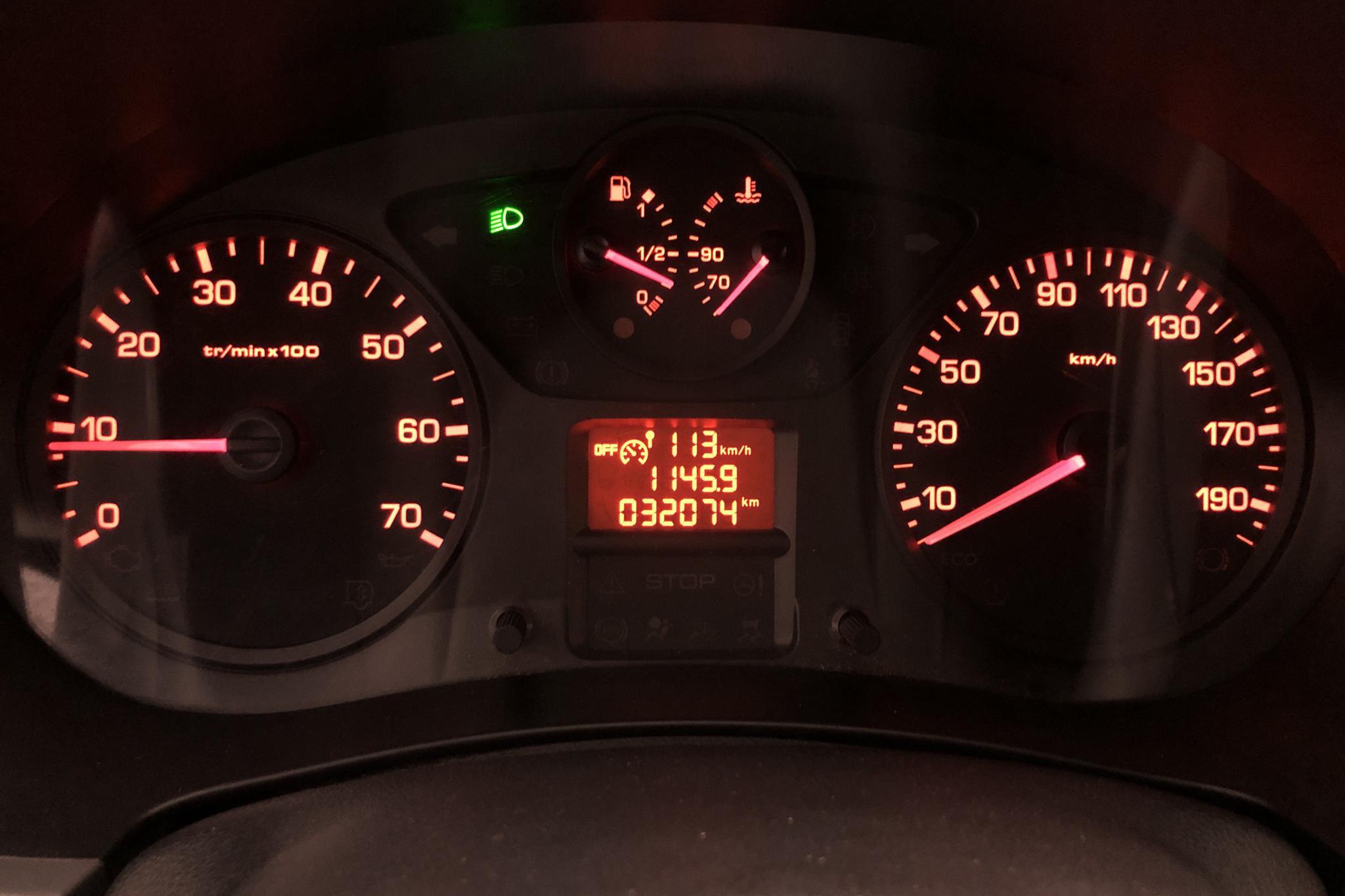 Citroen Berlingo 1.6 BlueHDi Skåp (100hk) - 3 206 mil - Manuell - vit - 2016