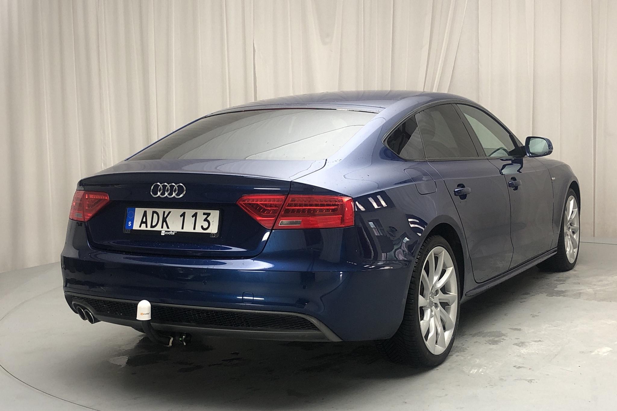 Audi A5 2.0 TDI Sportback quattro (177hk) - 11 701 mil - Automat - blå - 2014