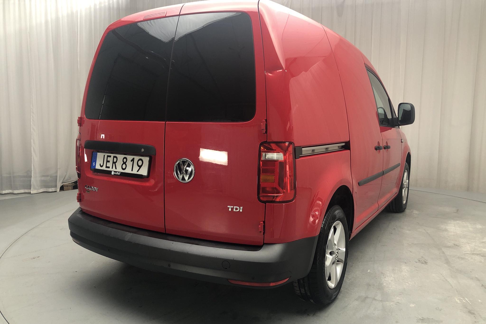 VW Caddy 1.6 TDI Skåp (102hk) - 117 920 km - Manual - Dark Red - 2016