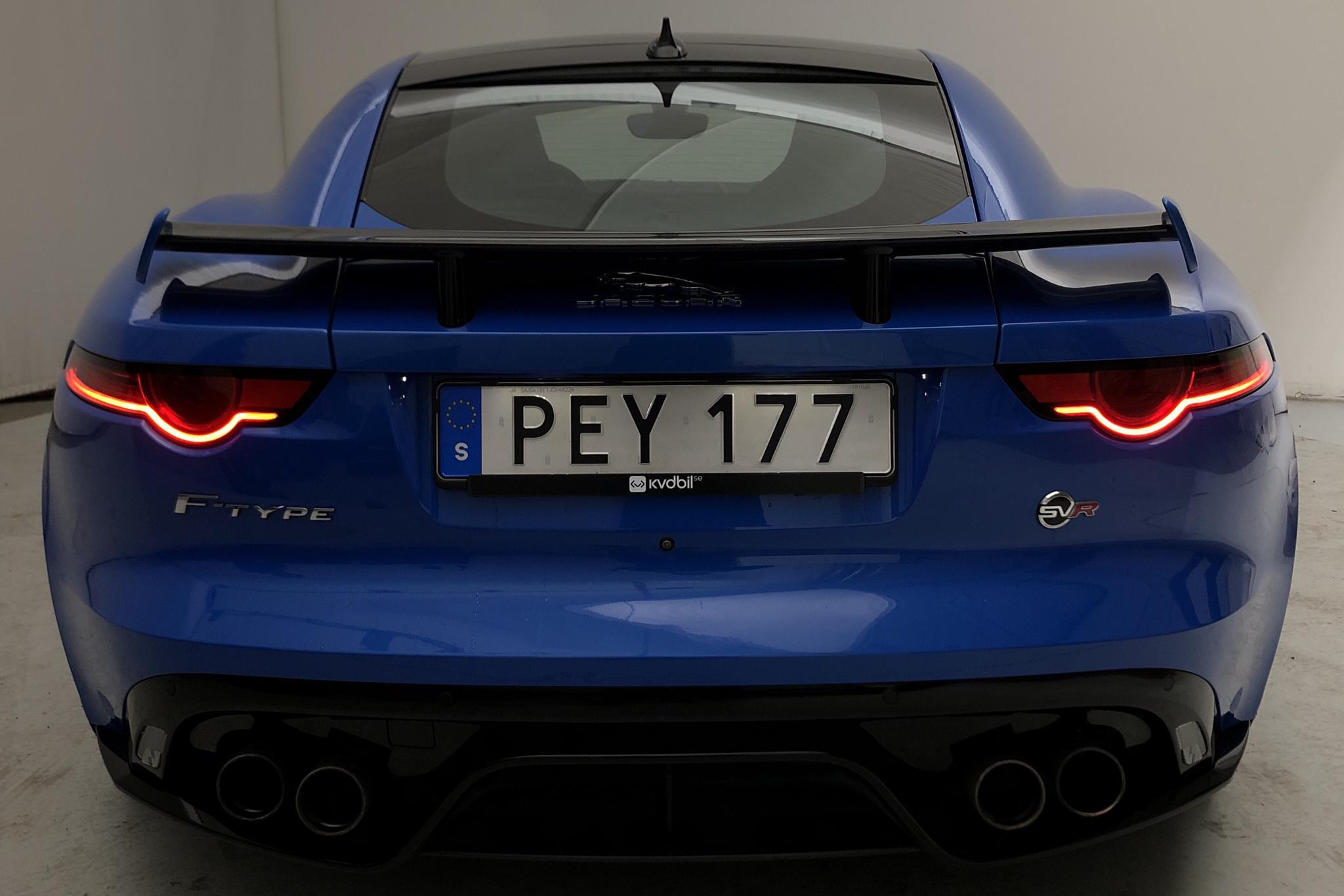 Jaguar F-Type 5.0 S/C V8 SVR AWD Coupé (575hk) - 2 943 mil - Automat - blå - 2018