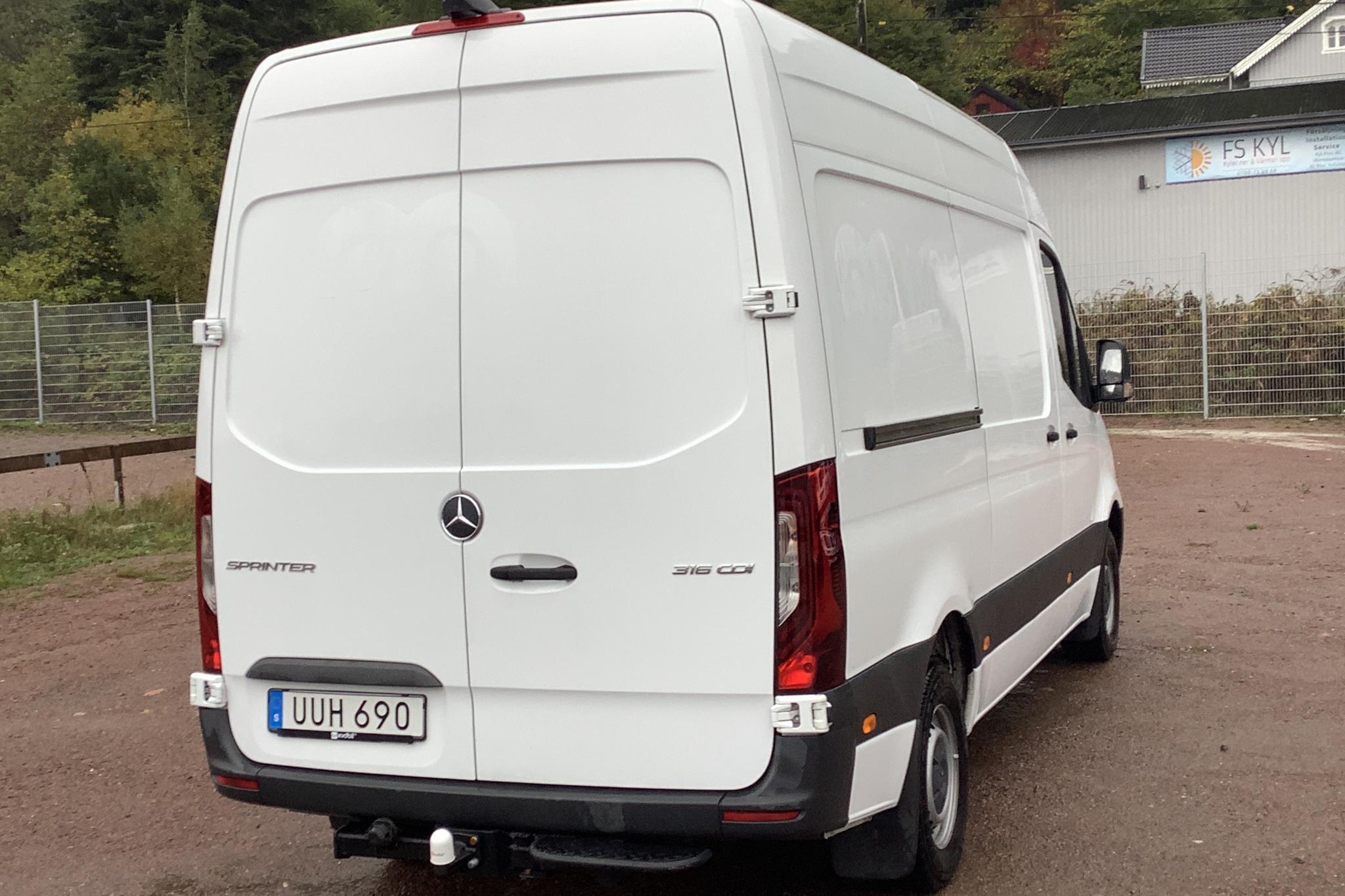 Mercedes Sprinter 316 CDI Skåp RWD (163hk) - 7 782 mil - Automat - vit - 2019