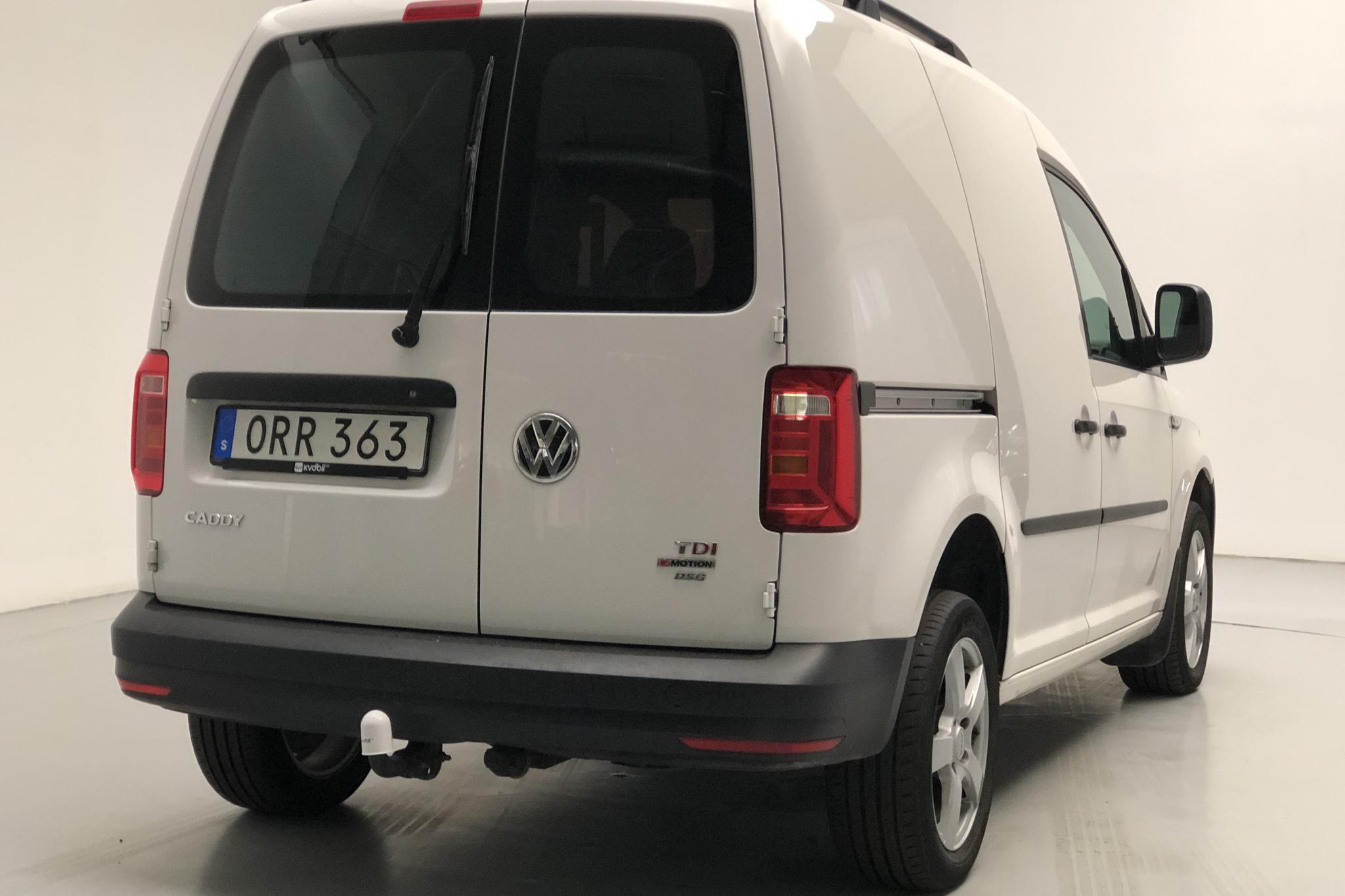 VW Caddy 2.0 TDI Skåp 4MOTION (150hk) - 5 914 mil - Automat - vit - 2018