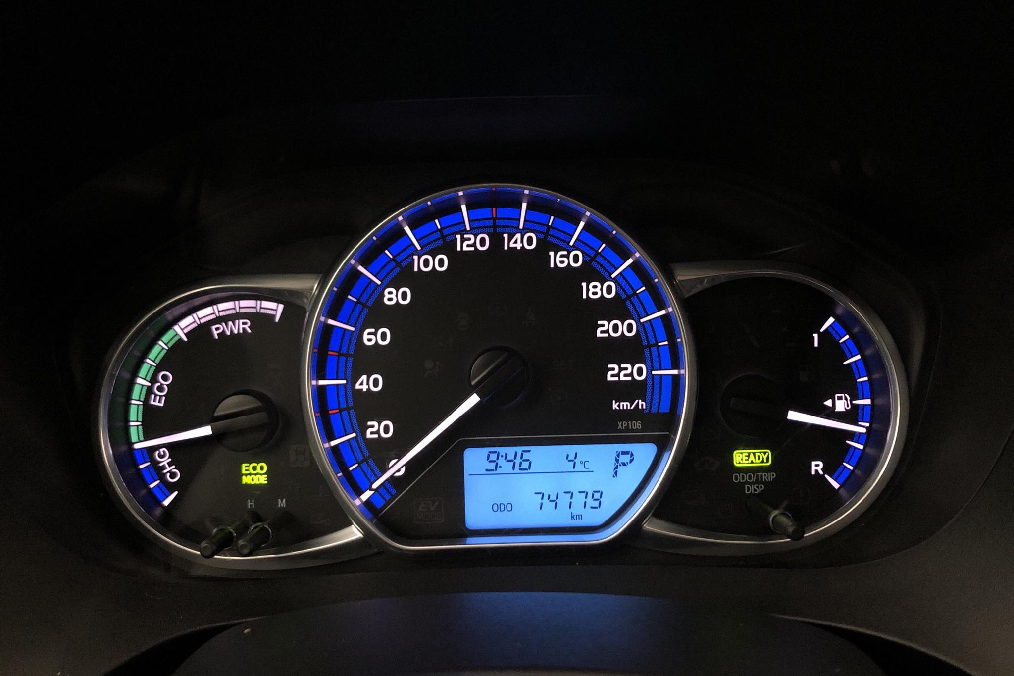 Toyota Yaris 1.5 HSD 5dr (75hk) - 7 478 mil - Automat - silver - 2015