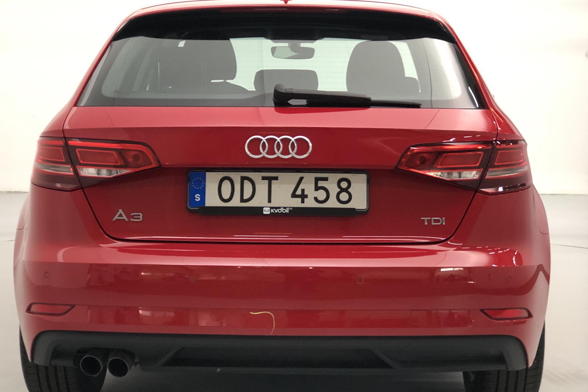 Audi A3 2.0 TDI Sportback (150hk) - 46 540 km - Automatic - red - 2017
