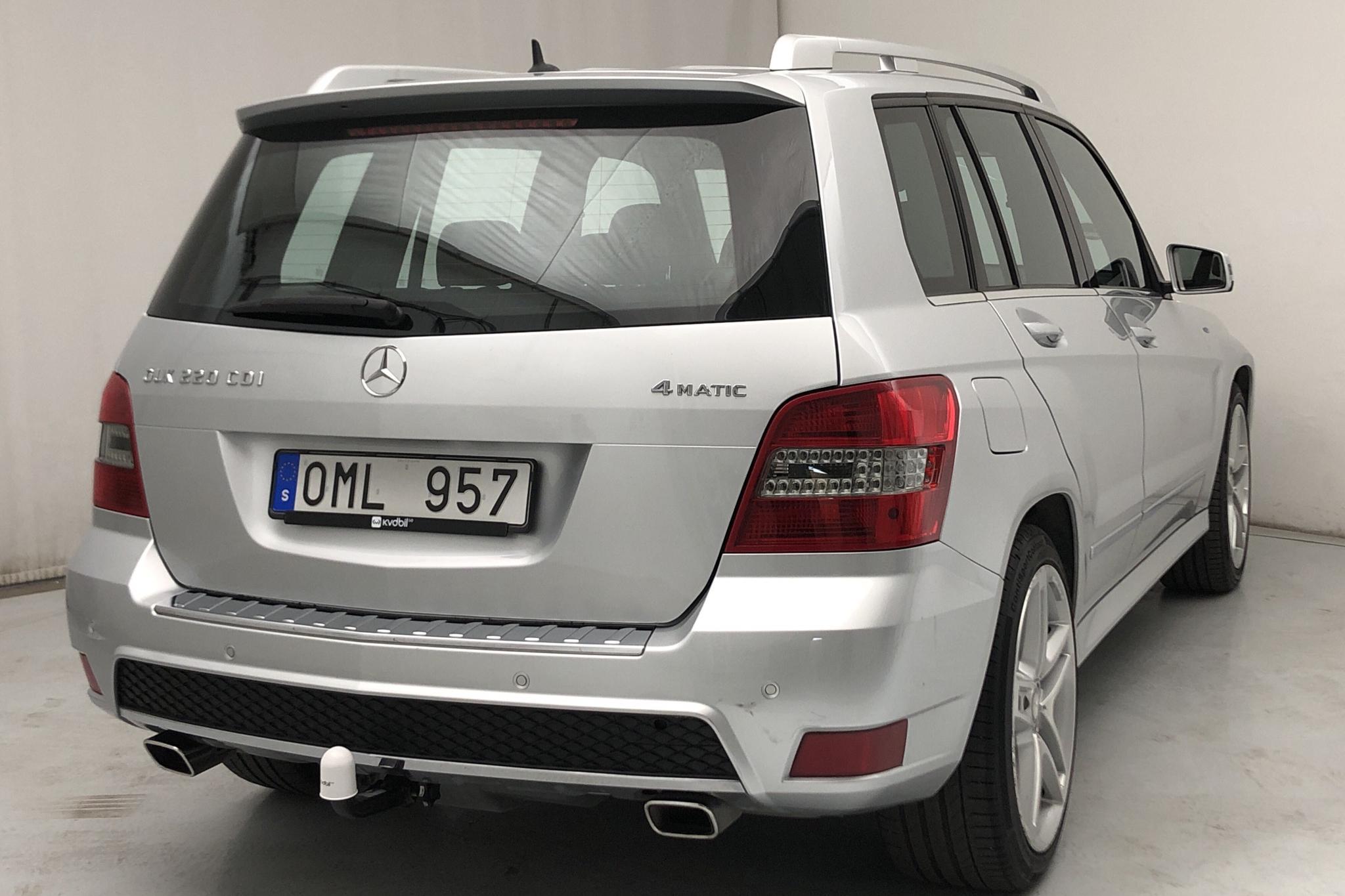 Mercedes GLK 220 CDI 4MATIC X204 (170hk) - 180 210 km - Automatic - silver - 2012