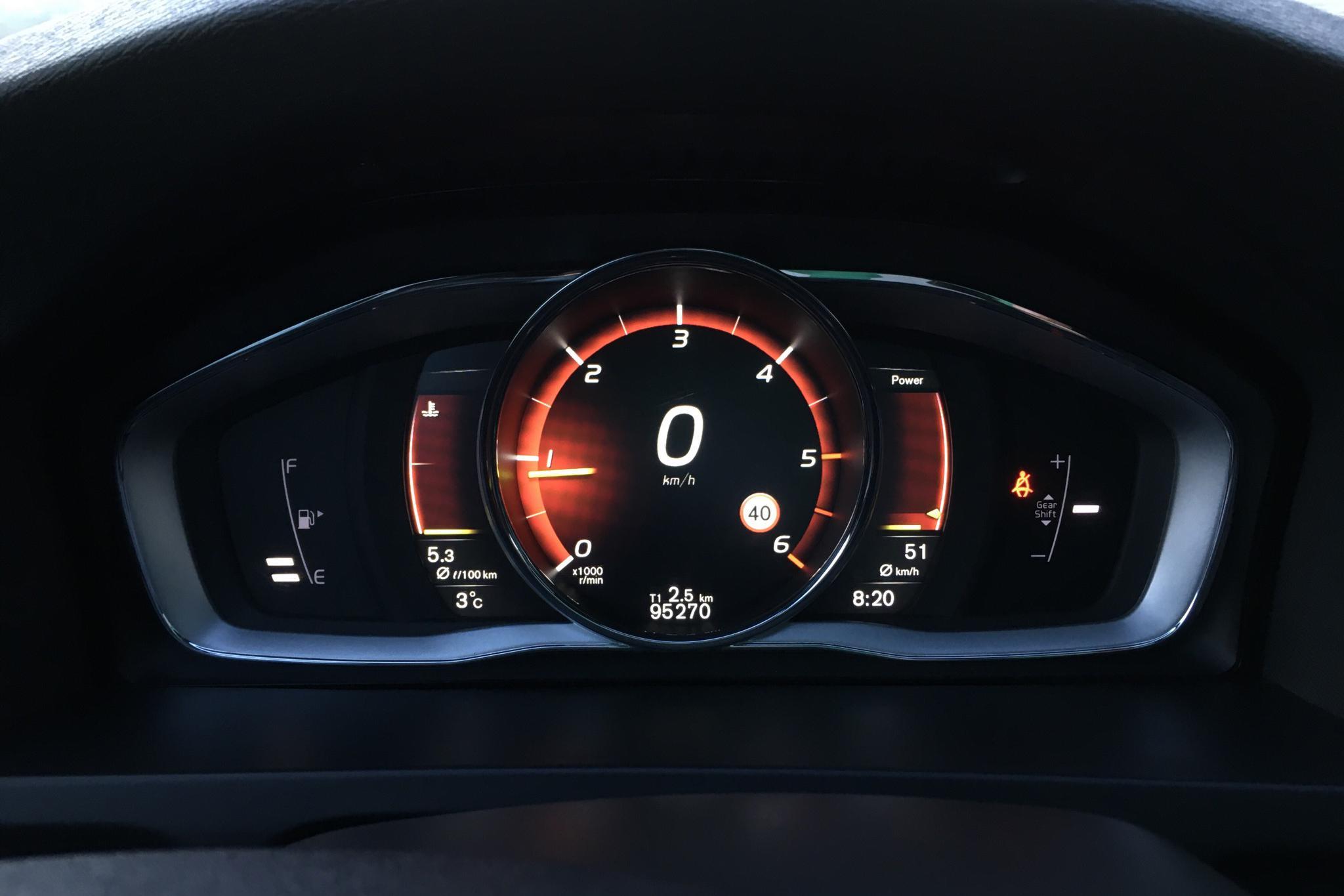 Volvo V60 D3 (150hk) - 9 527 mil - Manuell - svart - 2017